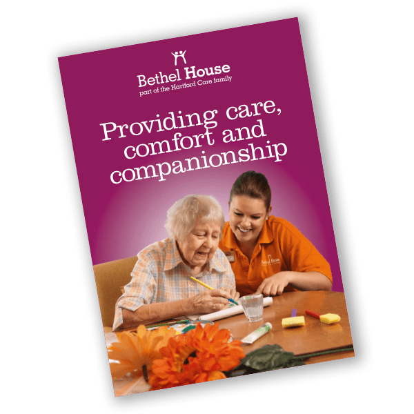 Bethel House care home brochure