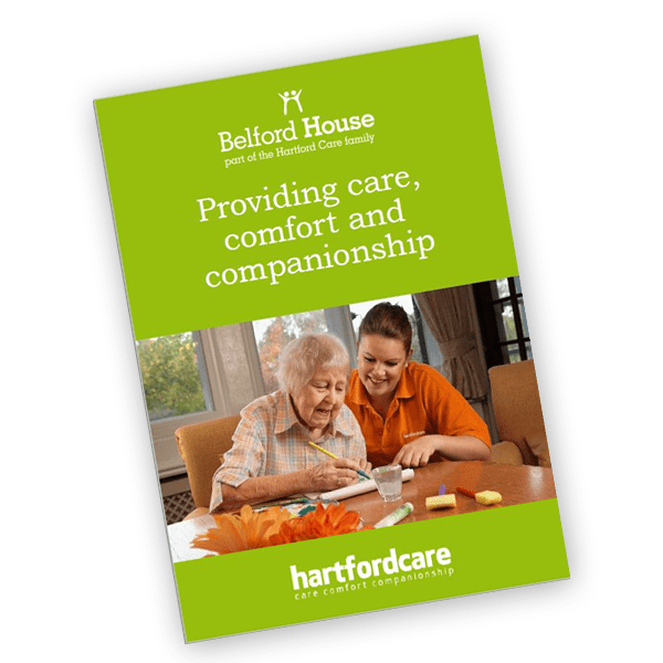 Belford House care home brochure