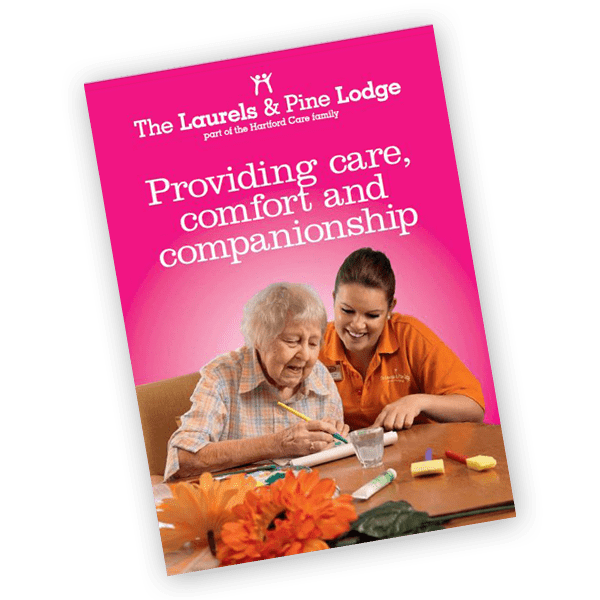The Laurels and Pine Lodge care home brochure