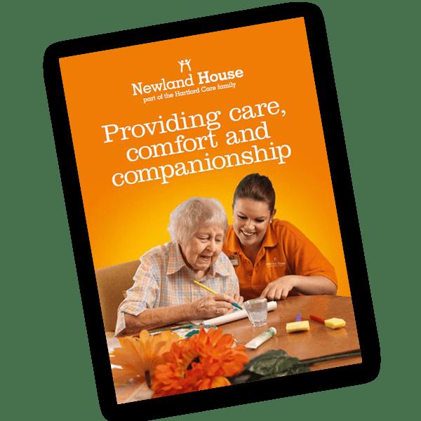 Newland House care home brochure