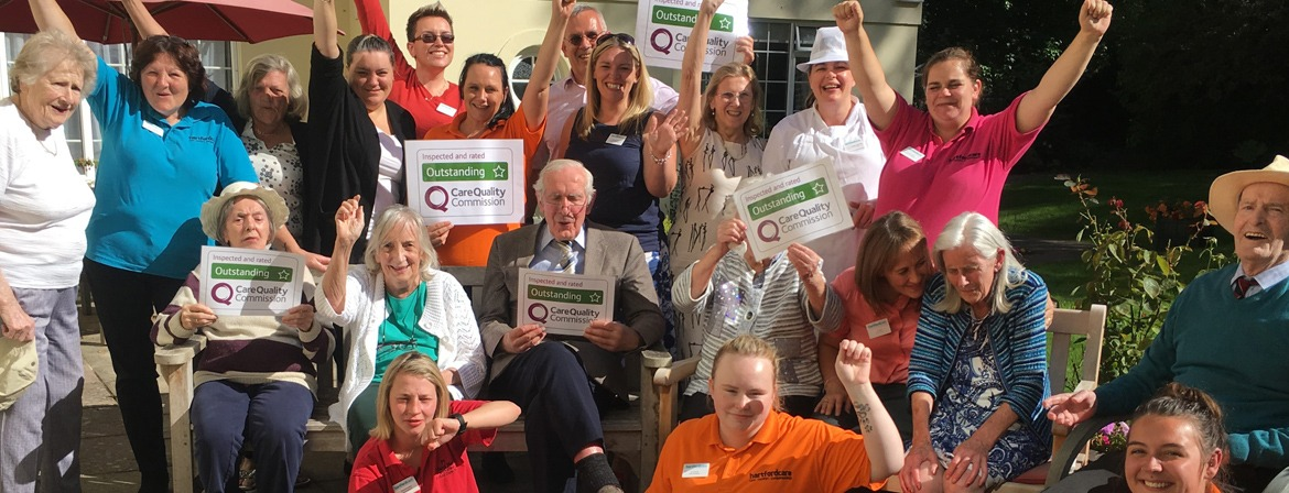 A team photo of the carers at Tegfield House