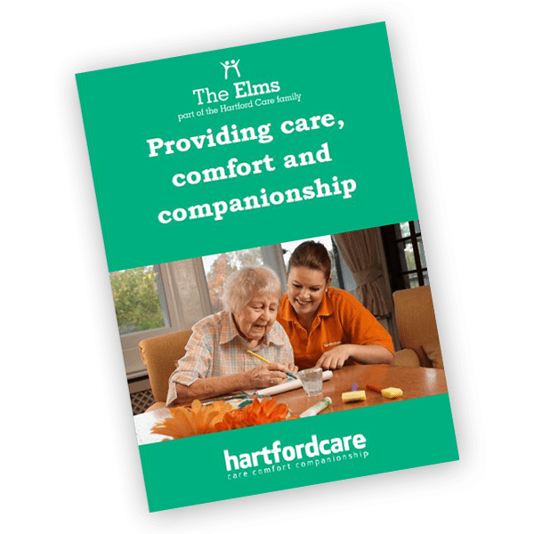 The Elms care home brochure
