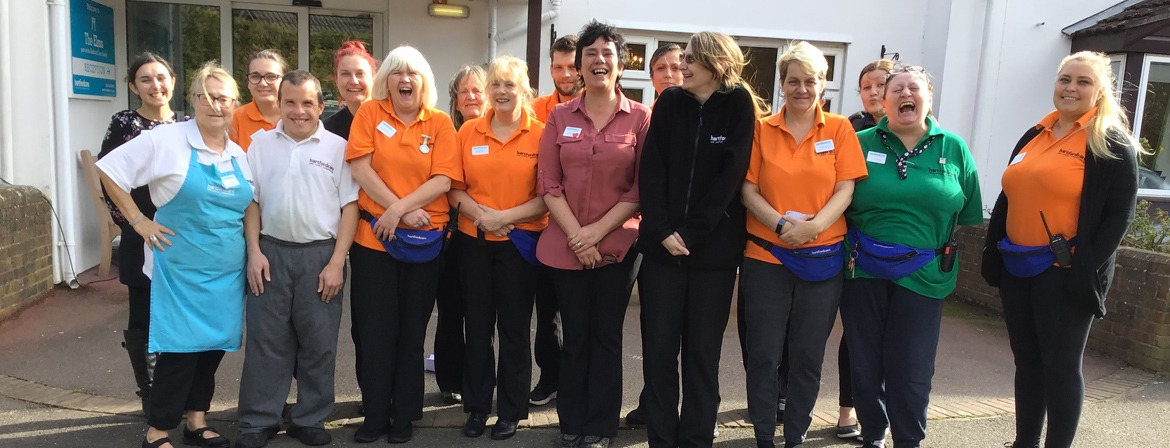 A team photo of the carers at The Elms