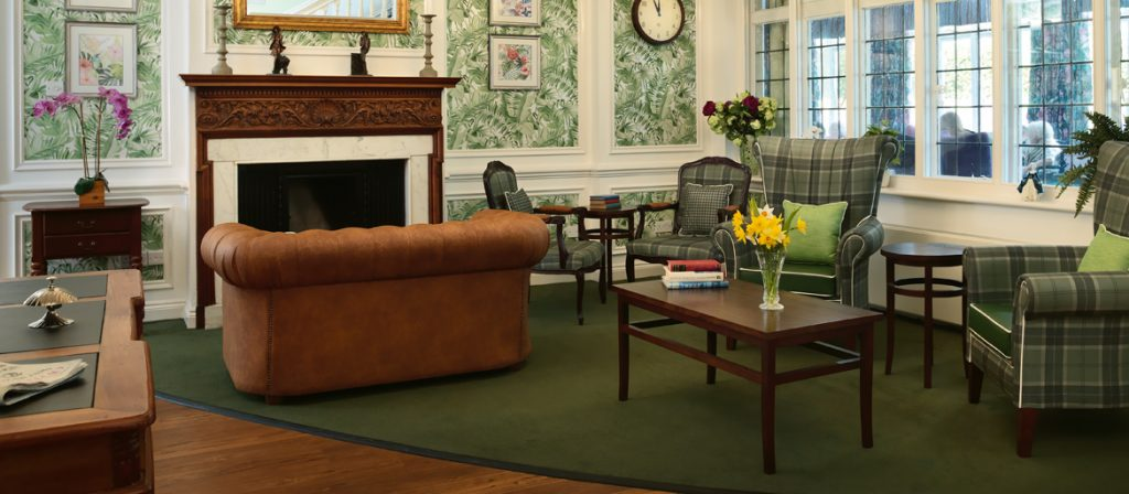 Burnham Lodge reception area