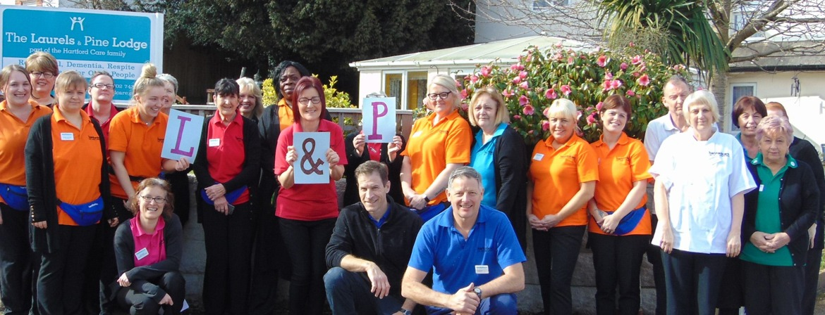 A team photo of the carers at The Laurels and Pine Lodge