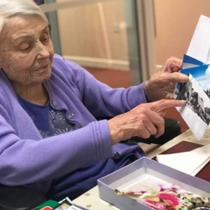 Resident Showing her memory box
